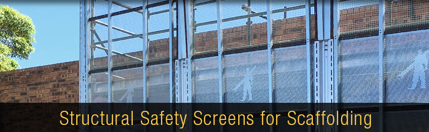 temporary edge protection for scaffolding